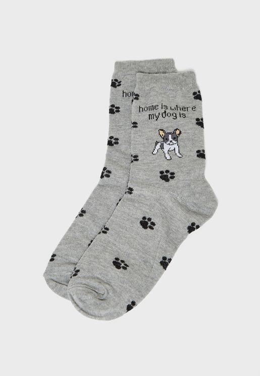 Dog Paw Socks