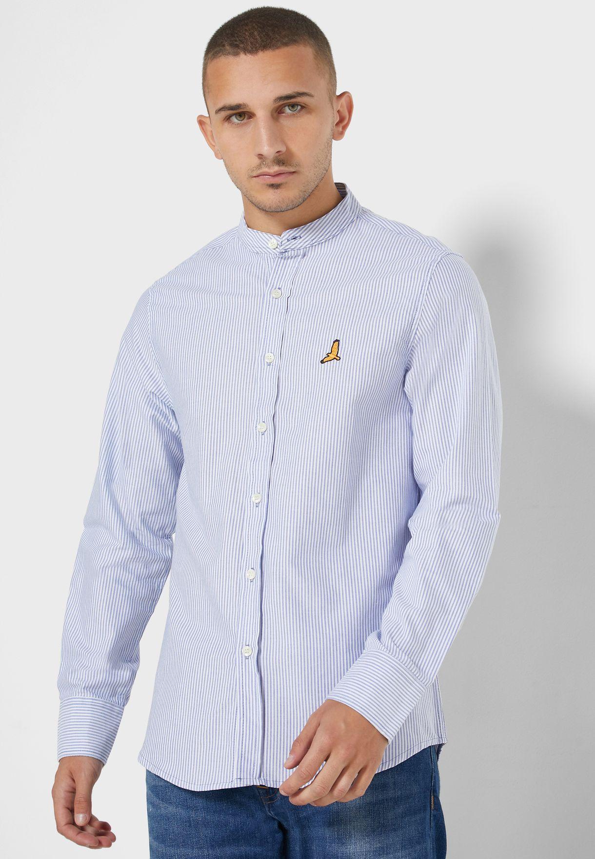 Striped Mandarin Shirt