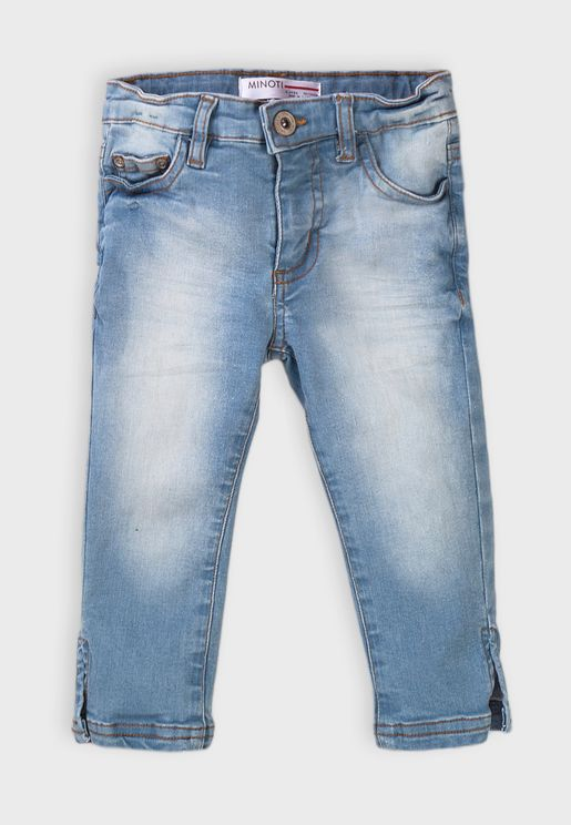 Kids Basic Regular Cropped Jean