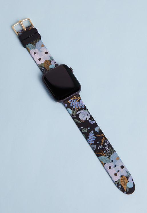 حزام ساعة ابل بزهور 38-40 مل