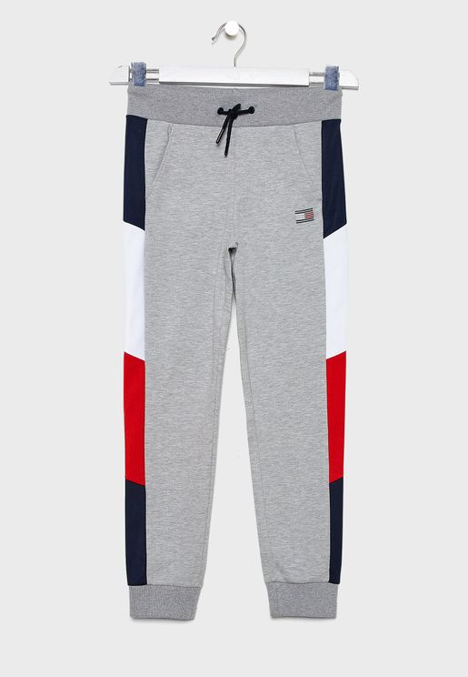 Youth Colour Block Cuffed Sweatpants