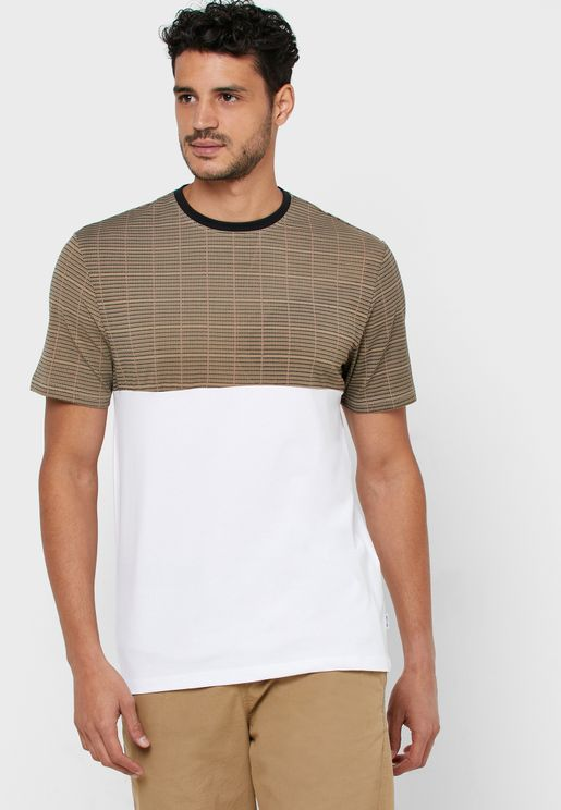 Mstefan Color Block Crew Neck T-Shirt