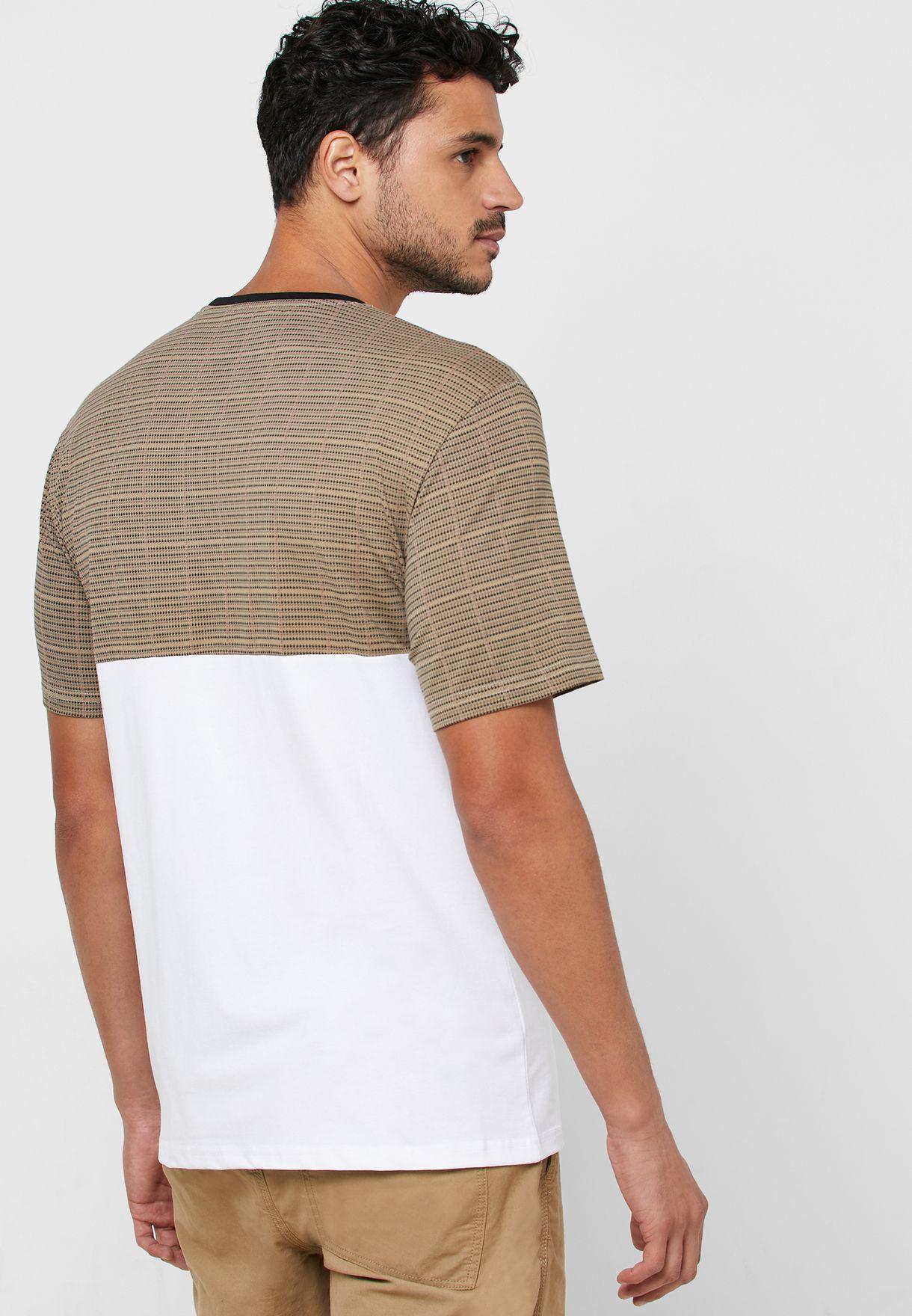 Mstefan Color Block Crew Neck T-Shirt