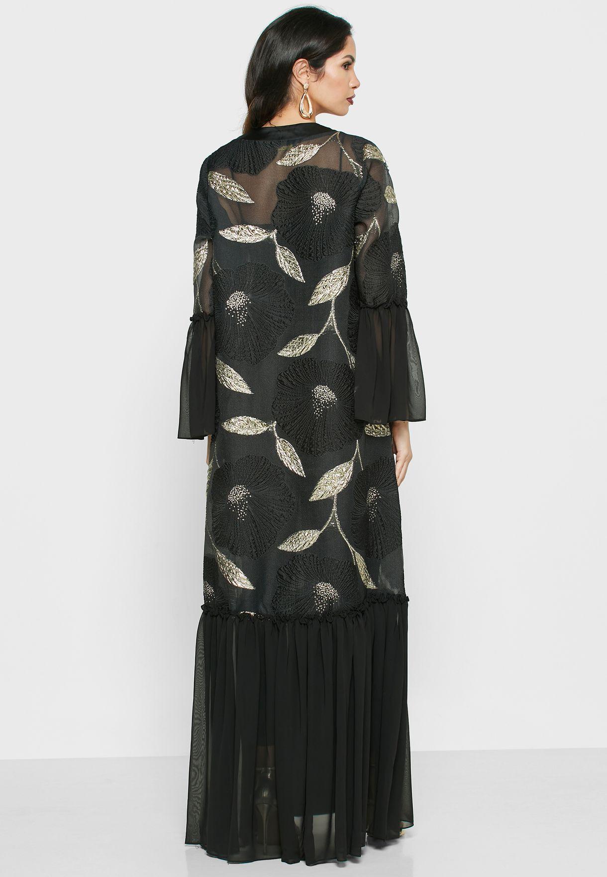 فستان ماكسي مزين بازهار