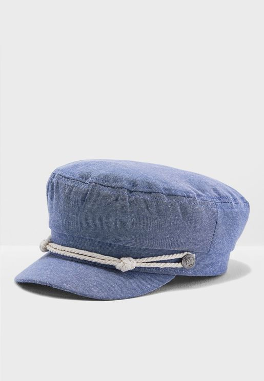 8513dd13b39 Baker Boy Hat With Button Detail