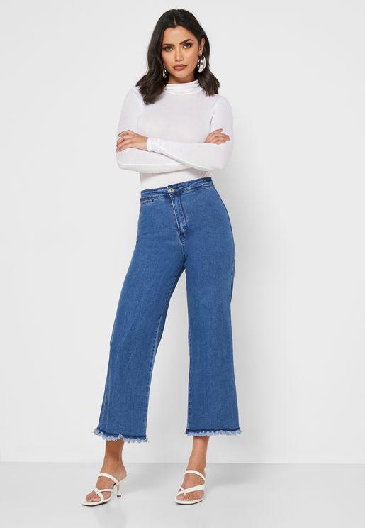 High Waist Crop Pants
