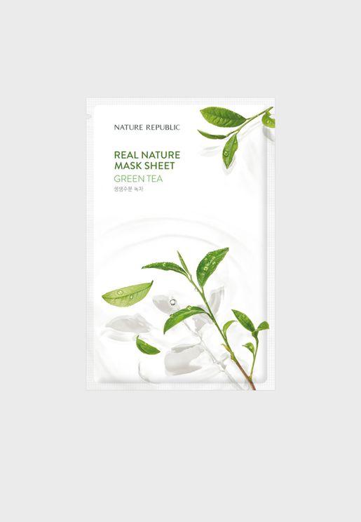 Real Nature Green Tea Mask Sheet
