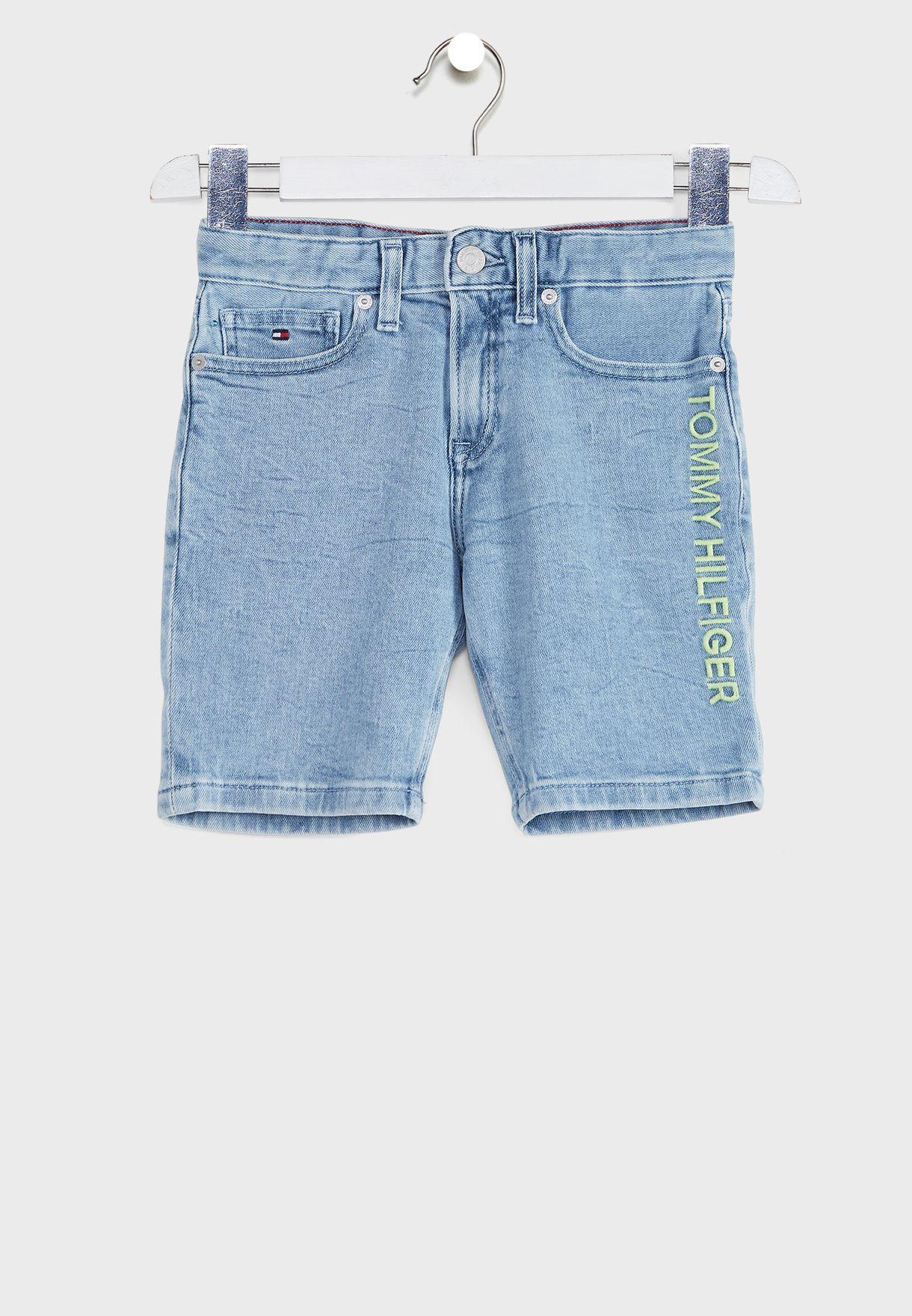 Teen Logo Denim Shorts