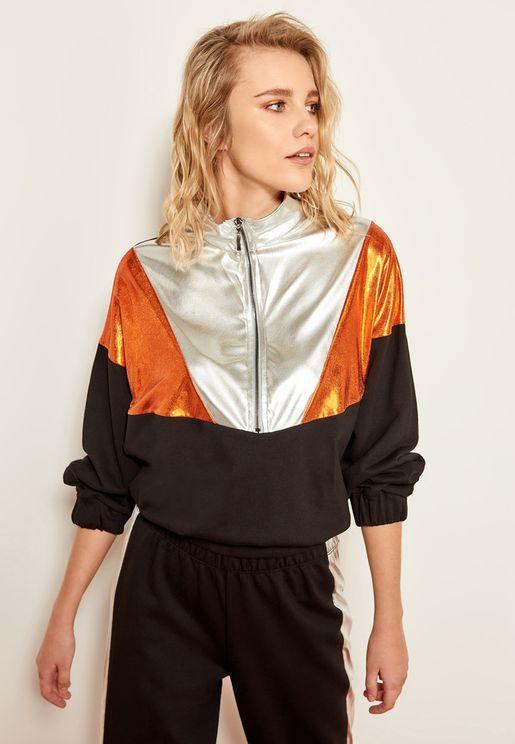 Colourblock Shimmer Sweatshirt