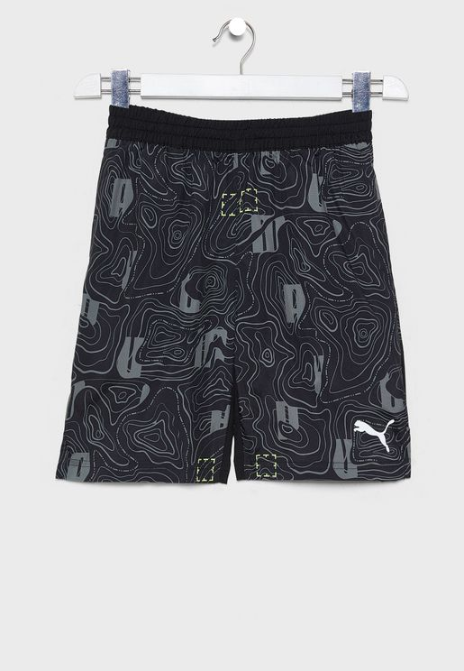 Kids Active Sports AOP Woven Shorts