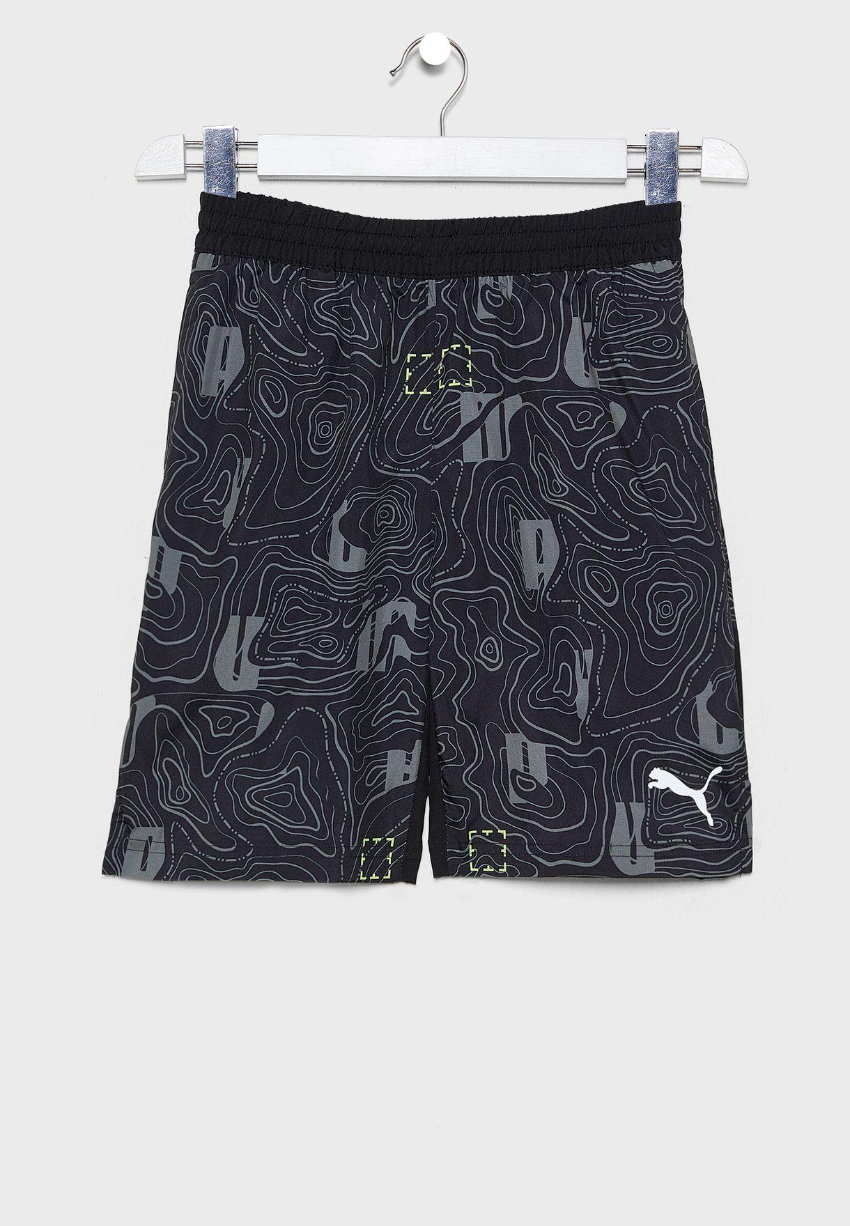 Kids Active Sports AOP Woven Shorts