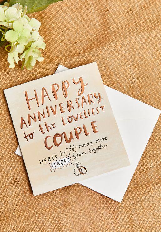 Loveliest Couple Anniversary  Card