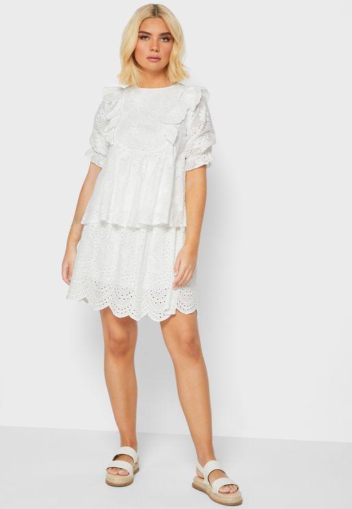 Broiderie Anglaise Mini Skirt