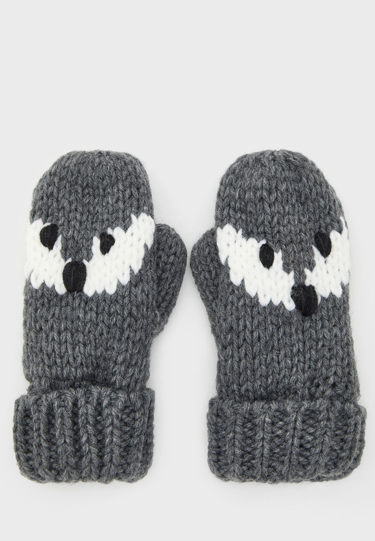Kids Knitted Mittens