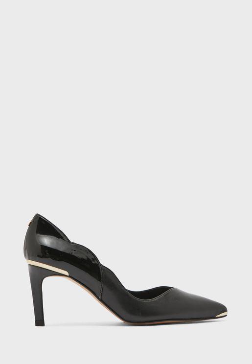 maysiep mid heel pump