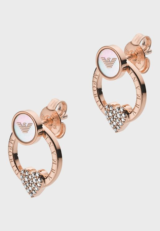 EG3430221 Heart Studded Earrings