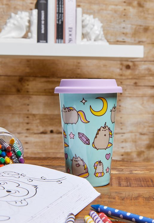 Pusheen Unicorn Ceramic Travel Mug