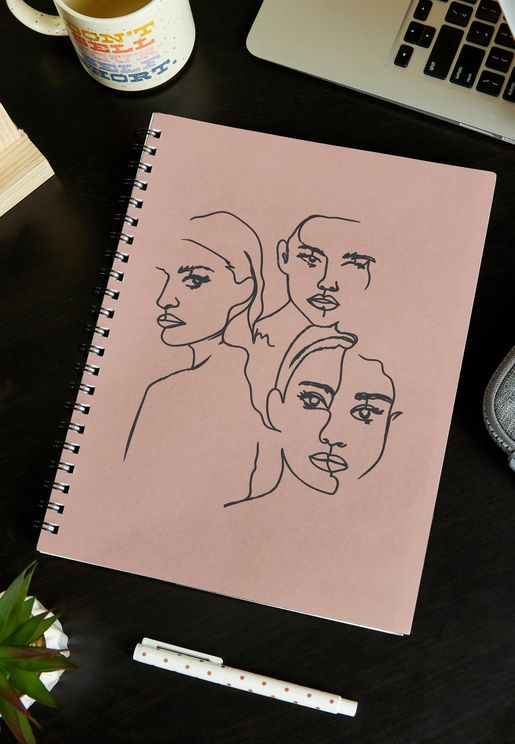 A4 Girl Group Line Art Campus Notebook