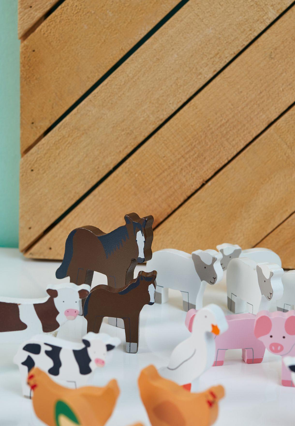 Pocket Farm Animals Toy Set