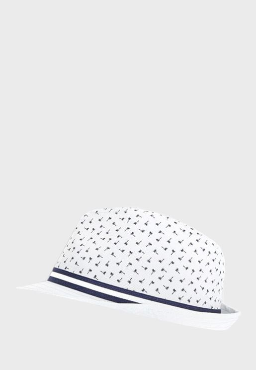 Kids Palm Tree Print Hat