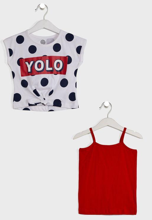 2 Pack Polka Dot T-Shirts