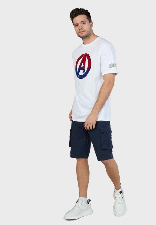 Captain America Crew Neck T-Shirt