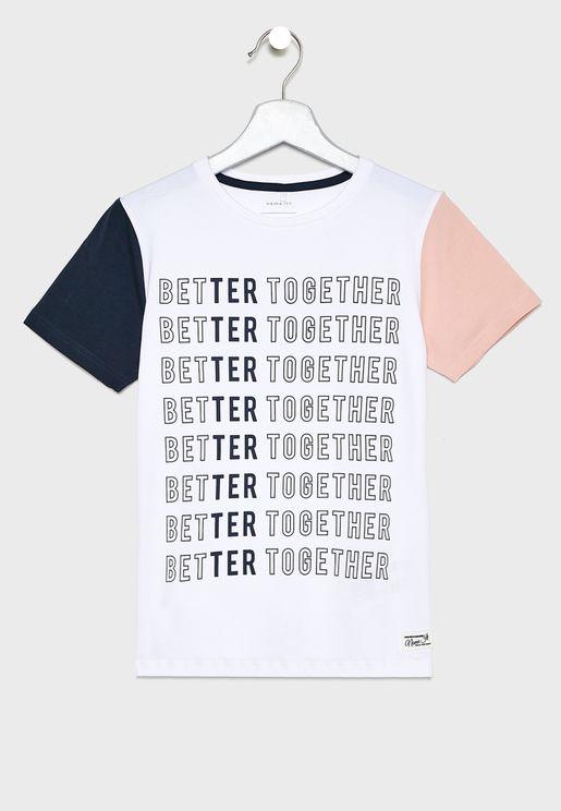 Kids Color Block T-Shirt