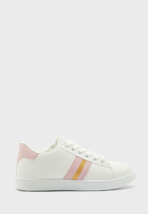 Side Stripe Sneakers