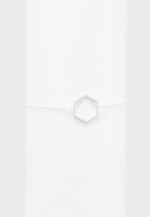 Open Hexagon Chain Bracelet