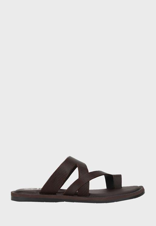 S Strap Flat Sandal