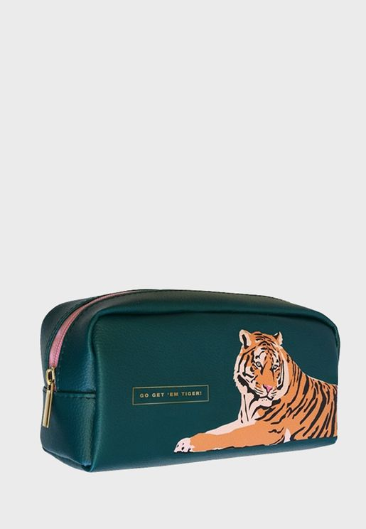 Lion Printed Pencil Case