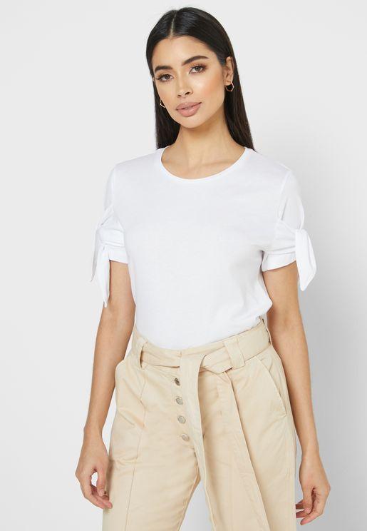 Wrap Sleeve T-Shirt