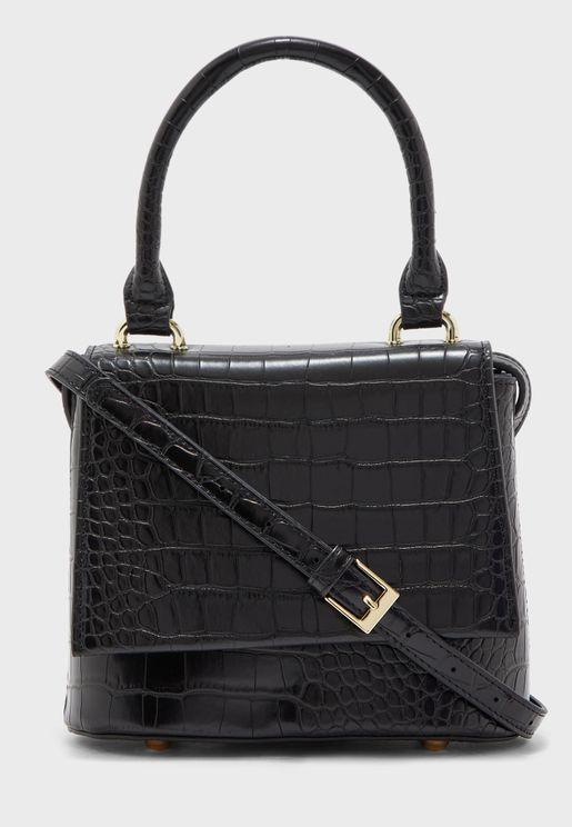 Handbag In Mock Croc