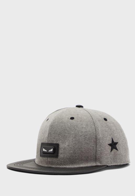 Embossed Stars Snapback Cap