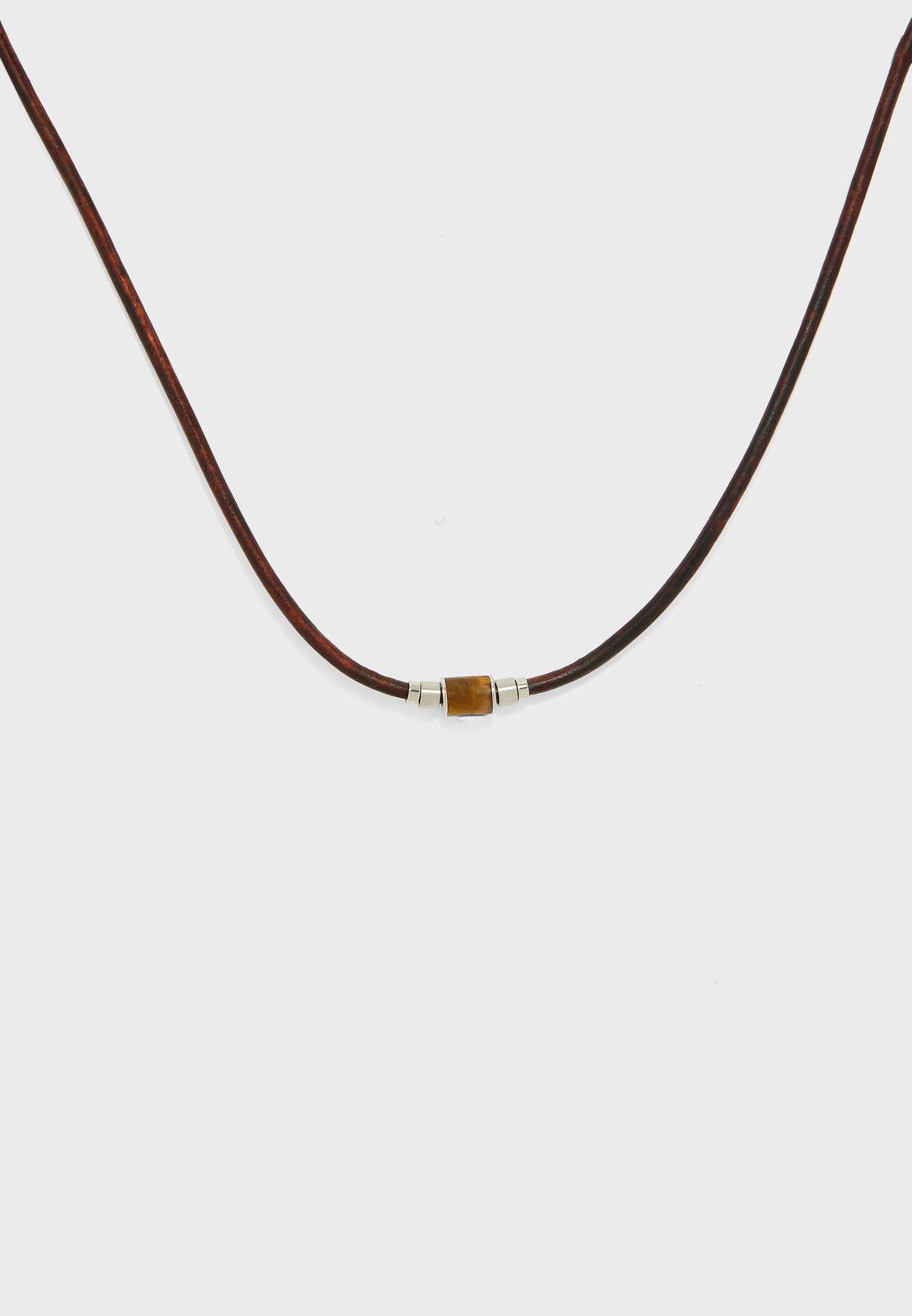 Heritage Tiger Eye Station Necklace