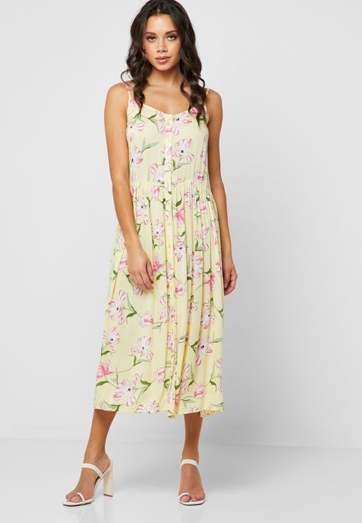 55860c269d5 Floral Print Pleated Dress