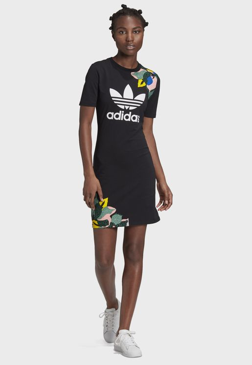 Trefoil Graphic T-Shirt Dress
