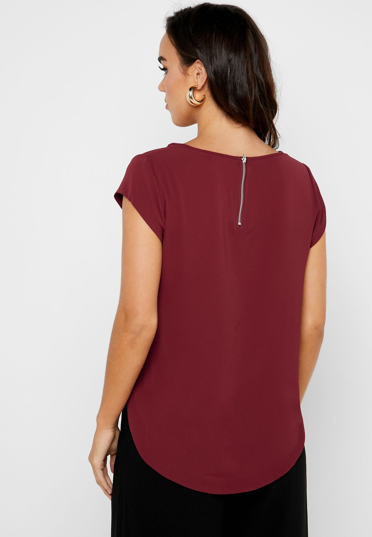 High Low Short Sleeve Top