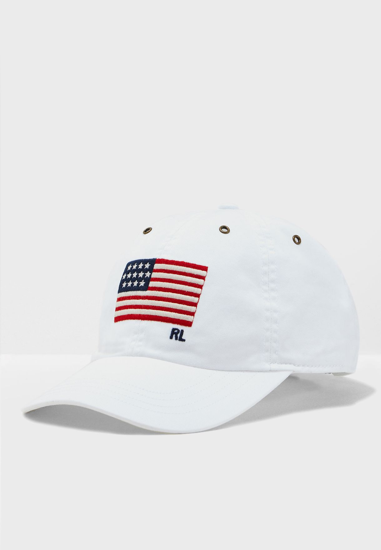 aeb3af4b Shop Polo Ralph Lauren white Twill Iconic Cap 710718674003 for Men ...