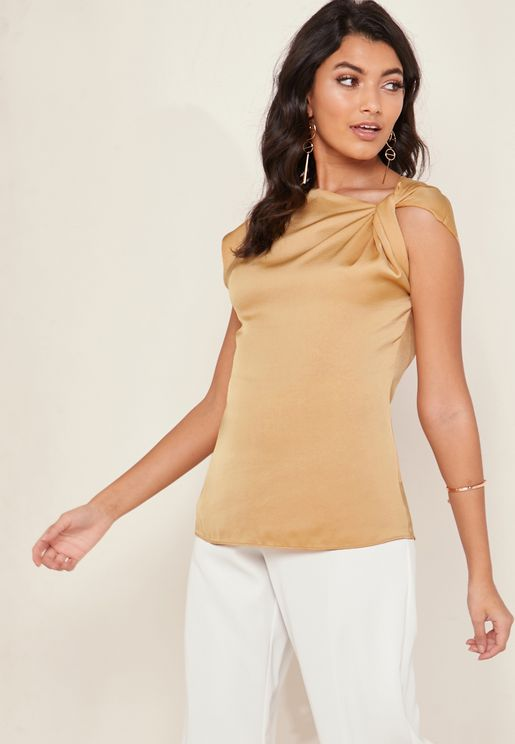 Trinny Shoulder Twisted Top