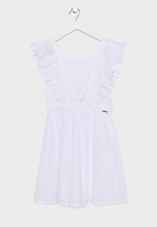 فستان اطفال مكشكش