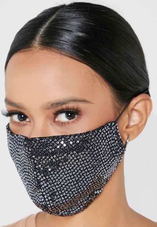 Mirror Sequins Mask
