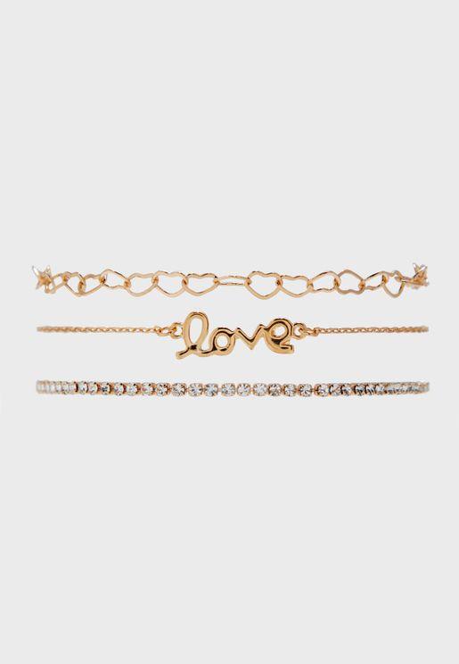Multipack Nikeel Bracelets