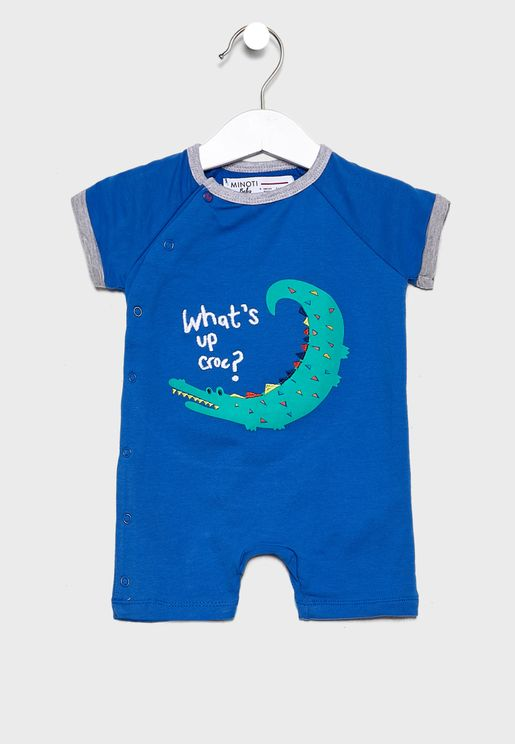 Infant Contrast Trim Printed Bodysuit