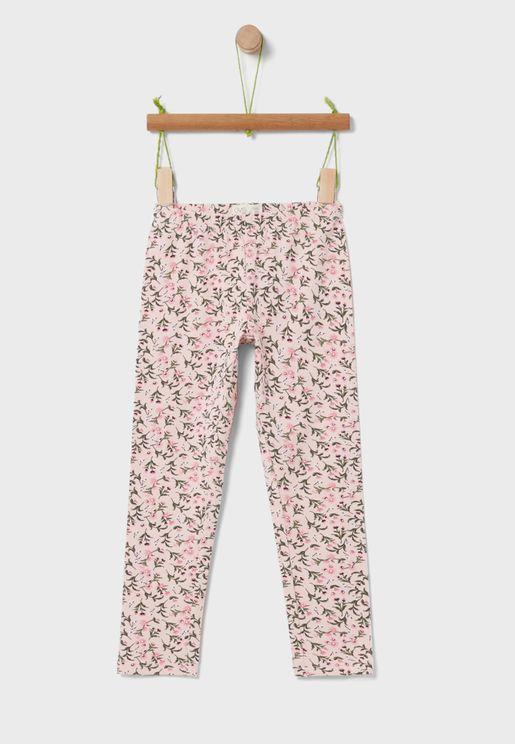 Youth Floral Print Leggings
