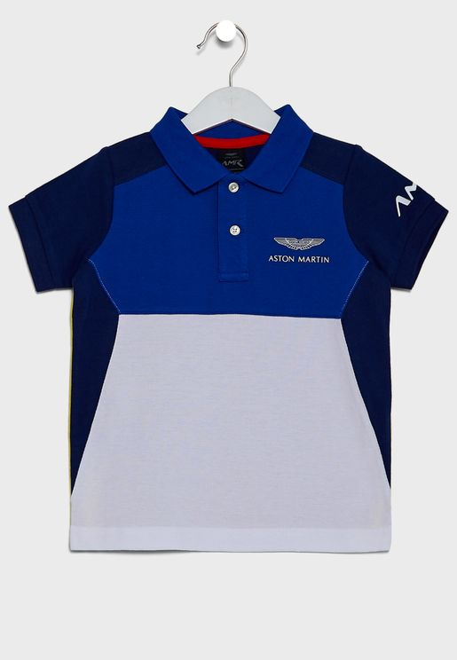 Kids Color Block Polo