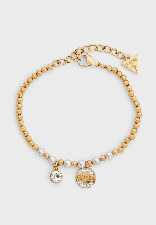 Pearls Logo Coin Bracelet