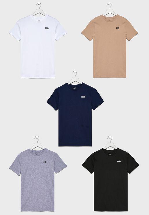 Kids 5 Pack Logo T-Shirt