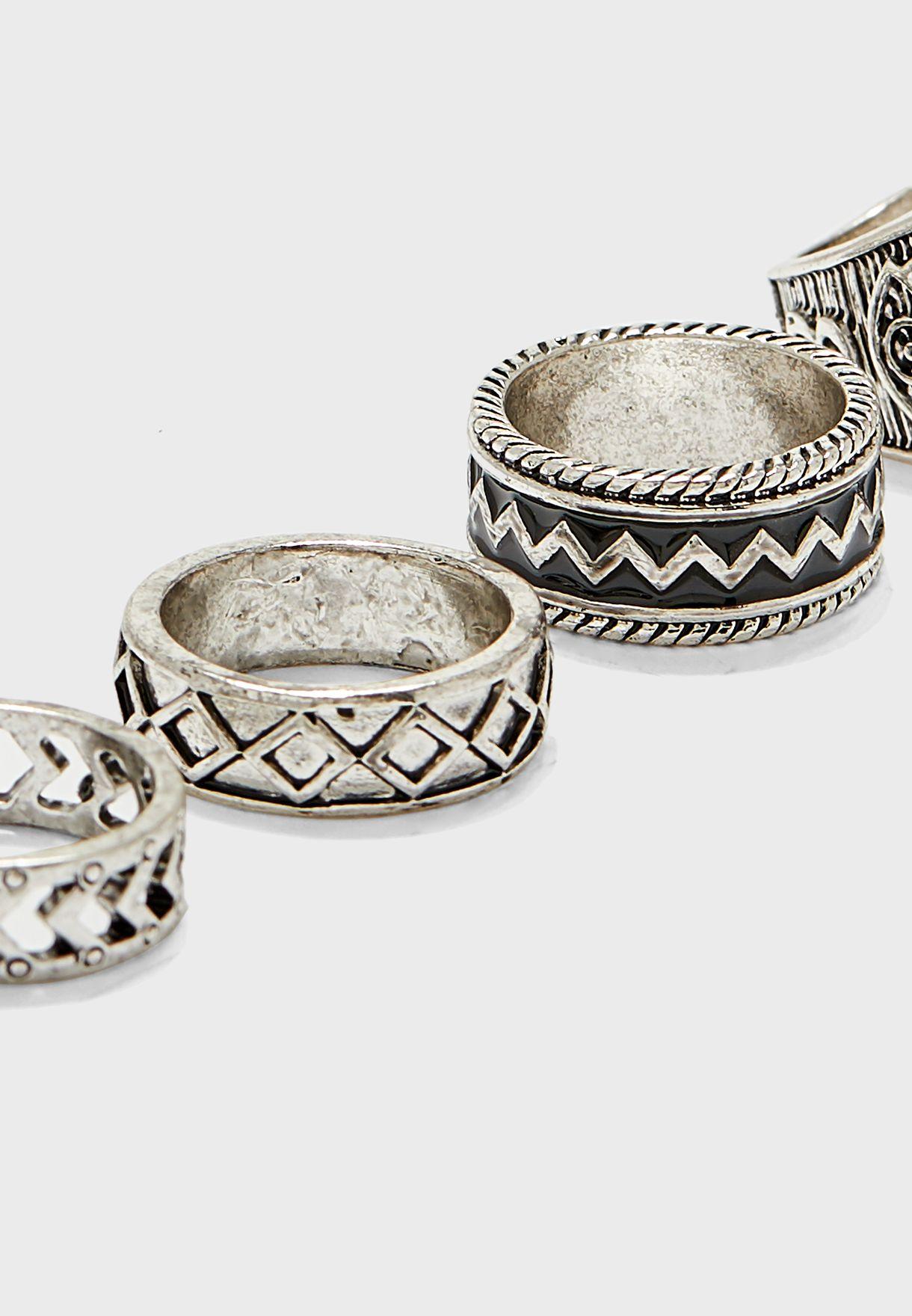 4 Pack Ring Set