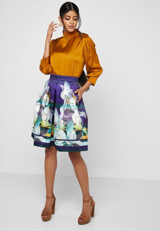 Floral Print Ball Skirt